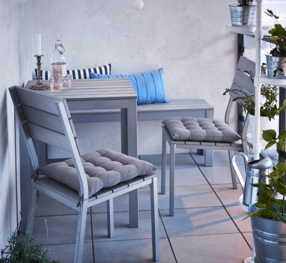 grey deck furniture